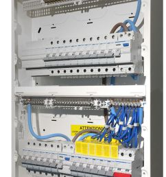 high integrity consumer unit populated with protection devices [ 741 x 1147 Pixel ]
