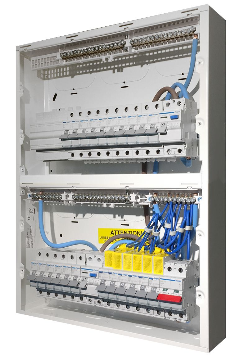 hight resolution of high integrity consumer unit populated with protection devices