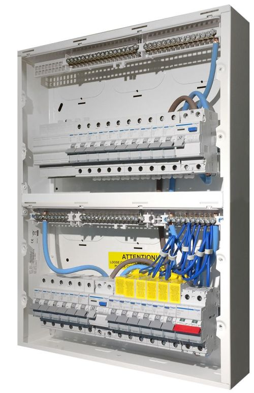 small resolution of high integrity consumer unit populated with protection devices