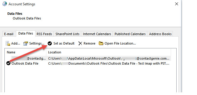 How to Protect Outlook '2013/'2016 Imap Contact/Calendar Data
