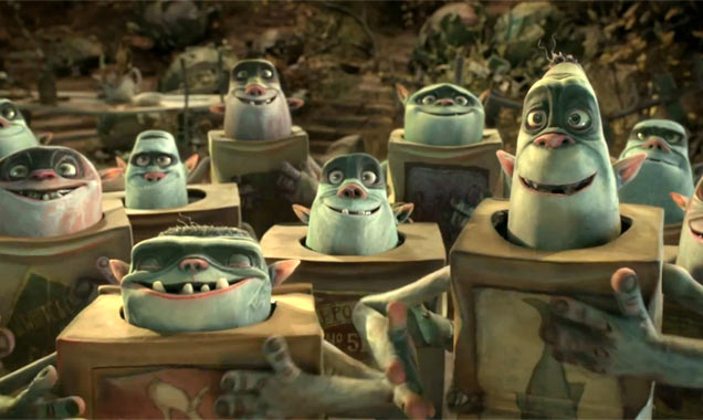 Boxtrolls in their boxes