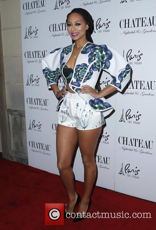 Keri Hilson Rings In the New Year Stylishly at Chateau Nightclub & Rooftop in White Floral ...