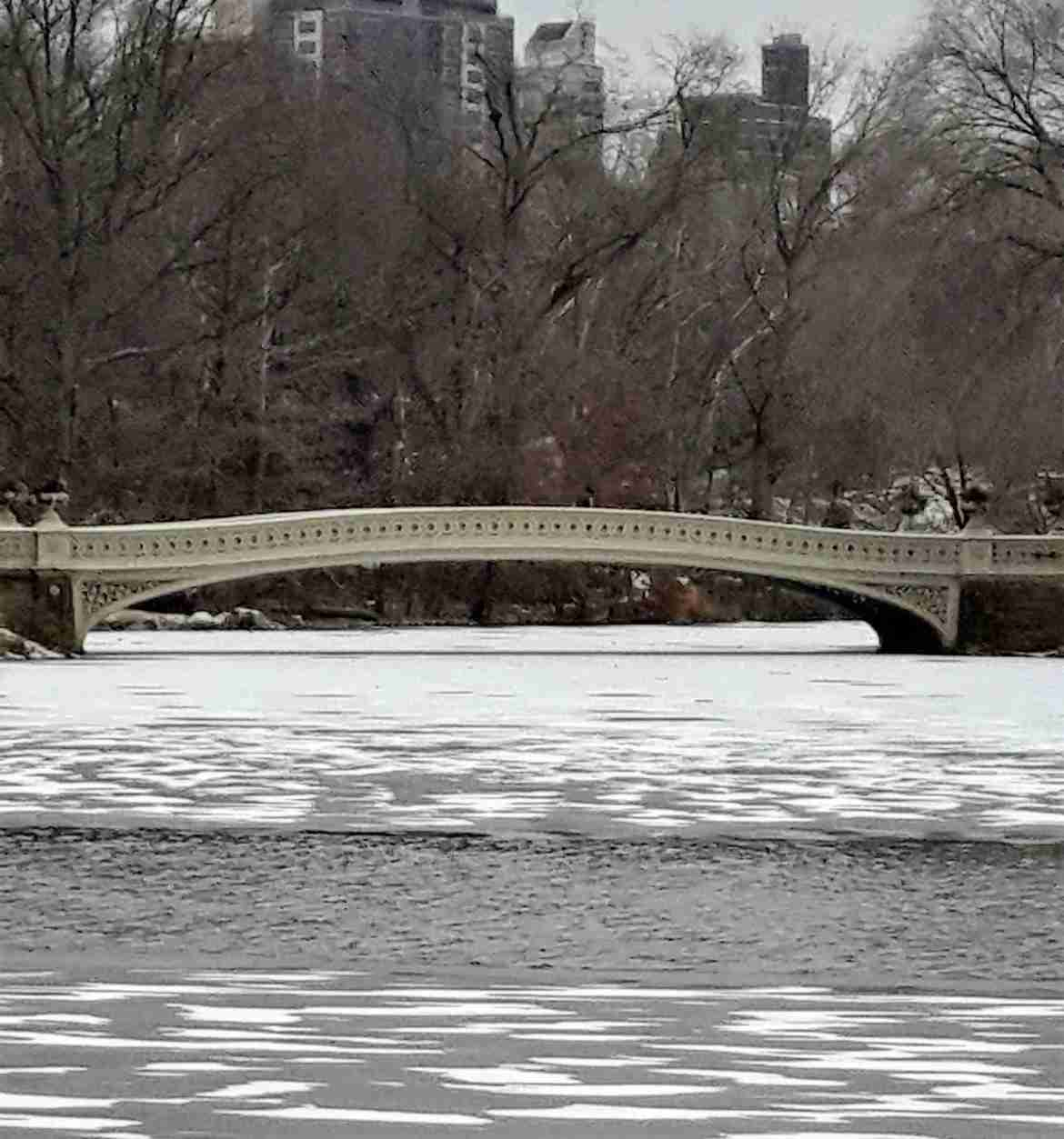 Bow Bridge en invierno