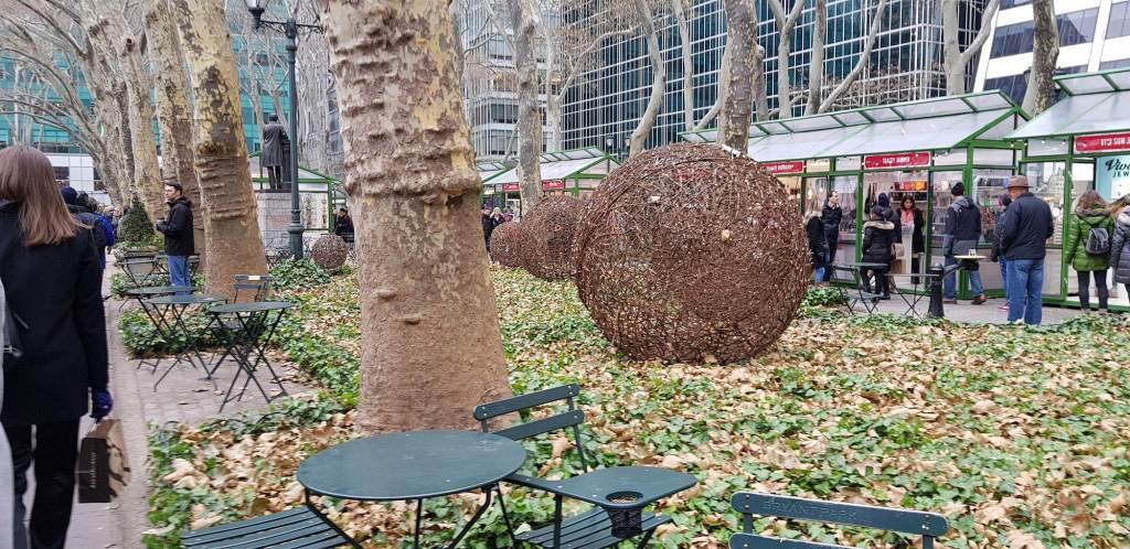 mesas y sillas bryant park