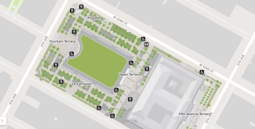 mapa bryant park