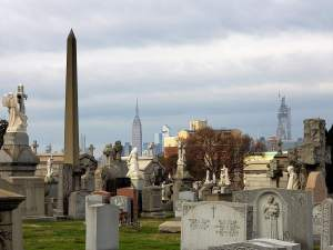 Vista de Manhattan desde el cementerio del Calvario 1