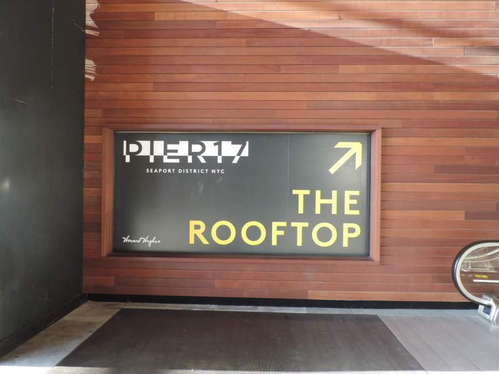 Rooftop del Centro comercial Pier 17 en South Street Seaport