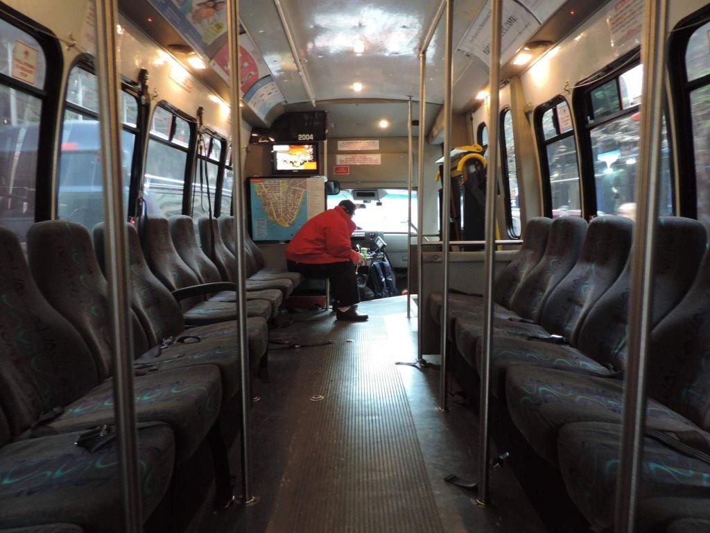 Interior de un Bus de Downtown Connection