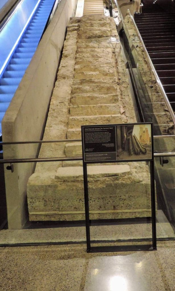 Escalera de los sobrevivientes de los atentados a las torres gemelas