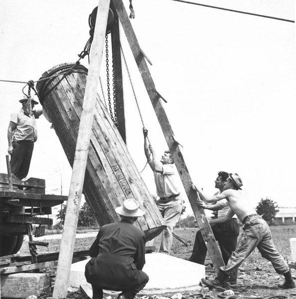 """""""cápsula del tiempo"""" enterradas en Flushing Meadows Corona Park foto de Archivo Nycgovparks"""