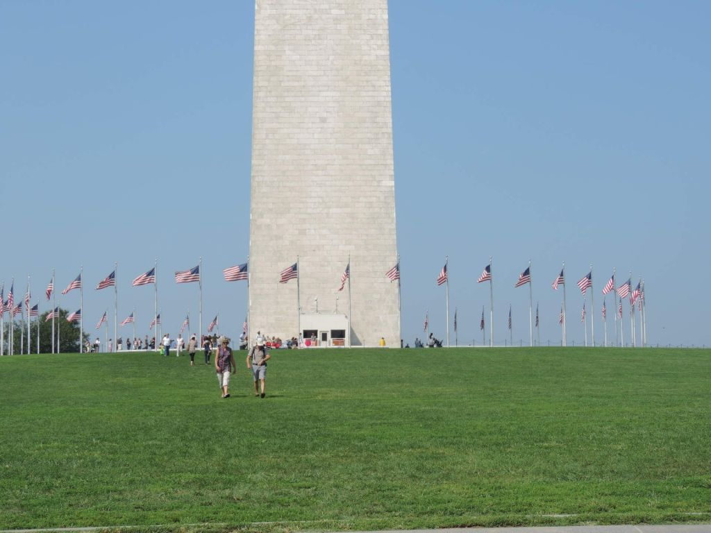 Base del Monumento a Washington en el National Mall