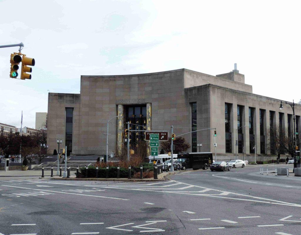 Exterior de la Biblioteca Pública de Brooklyn