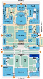 Mapa Columbia University