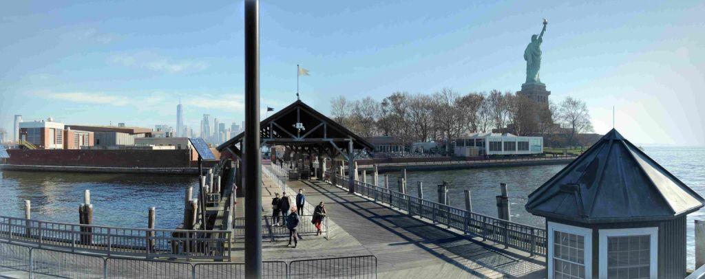 Embarcadero en Liberty Island