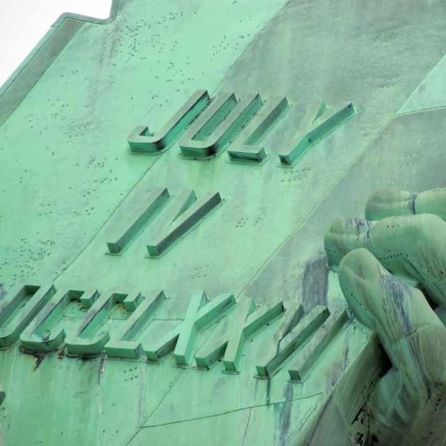 detalle de la Estatua de la Libertad