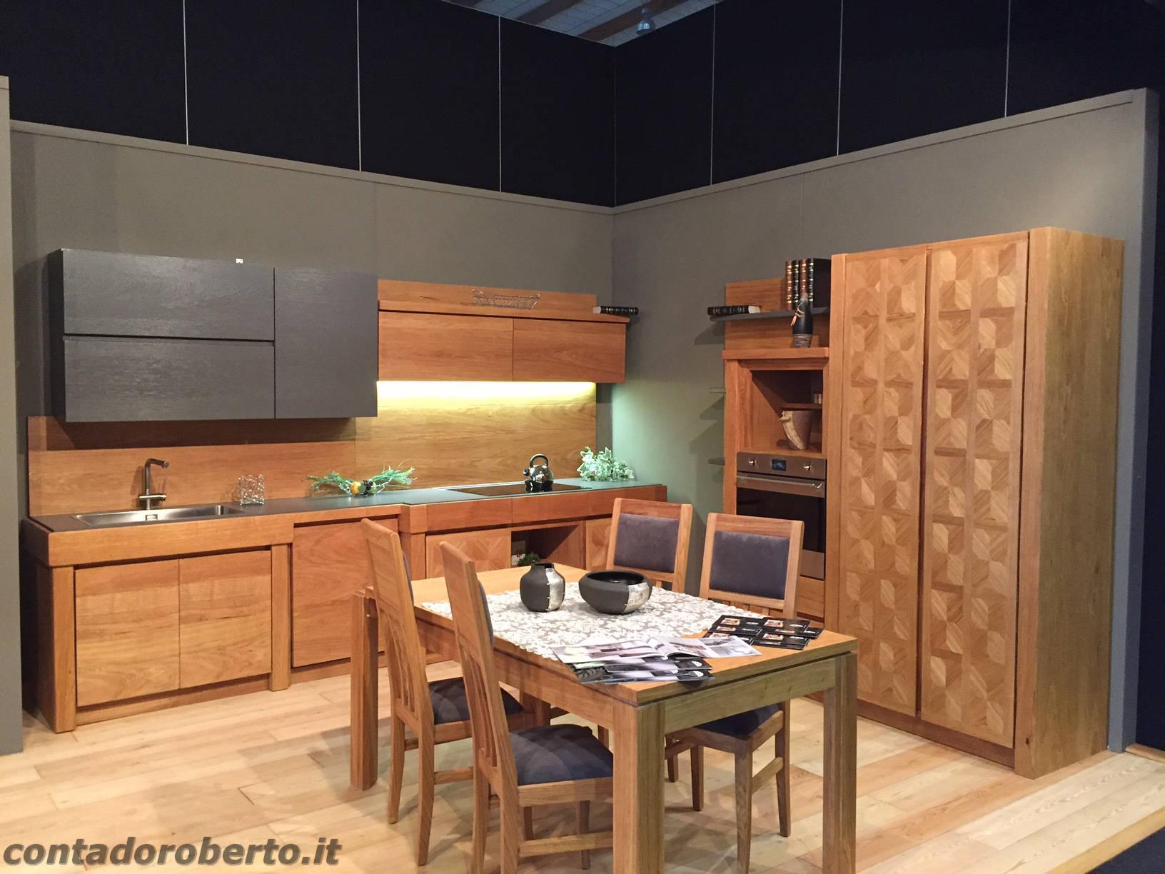 Cucina Moderna in Rovere Naturale Manerba  Contado Roberto Group  Cucine e arredamenti su