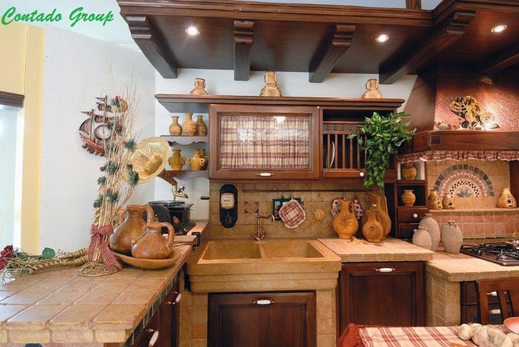 Cucina in Muratura Vecchio Casale  Contado Roberto Group  Cucine e arredamenti su misura in legno