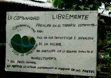 Estudiantes de San José de Apartadó se movilizan exigiendo reubicación de base militar