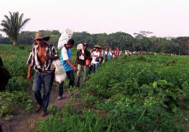 42 familias que retornaron a Hacienda Bella Cruz  se encuentran en riesgo de desalojo