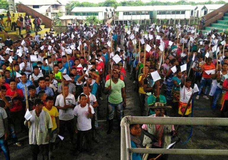 En Chocó, indígenas y afrodescendientes marchan contra el paramilitarismo