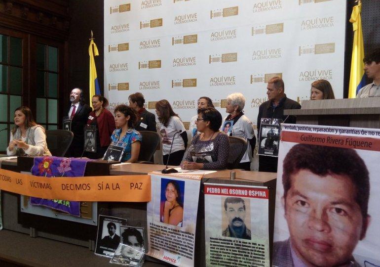 Víctimas exigen a Congreso mantener esencia de los Acuerdos de Paz