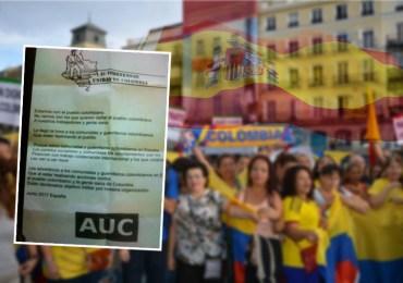 Paramilitares amenazan a víctimas colombianas exiliadas en España
