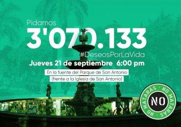 En Medellín piden 3 millones de deseos por la vida y la paz