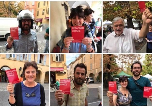 Tarjeta roja a Israel en Italia por violación de DDHH