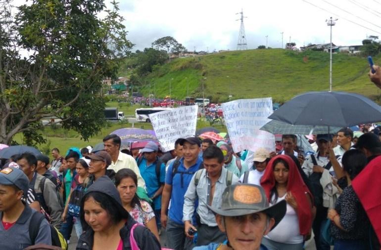 Campesinos completan 8 días de Paro Nacional
