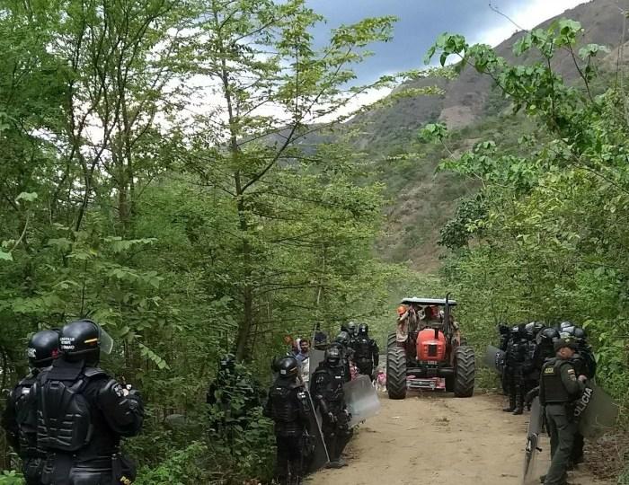 ESMAD tiene intimidadas a comunidades afectadas por Hidroituango en Sabanalarga, Antioquia