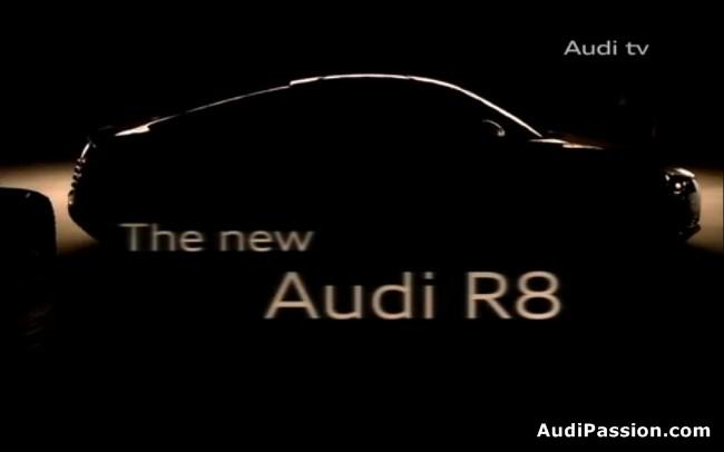 teaser do novo audi r8 que está chegando em 2012