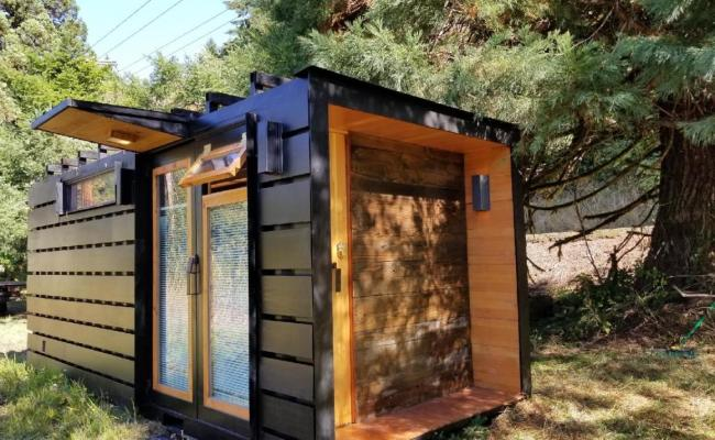 Shipping Container Turned Into Compact Tiny House For Two