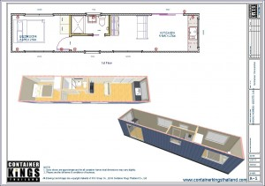 Container Kings Thailand - CK40HC-HOM001 40ft HC 1 Bedroom