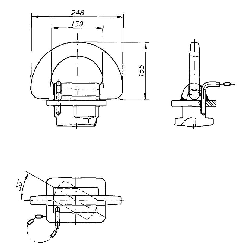 Lockable Lashing Eye VZA 3.1