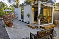 Backyard Patio Shipping Container - Container ...
