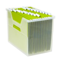 Large Open Top File Box Translucent
