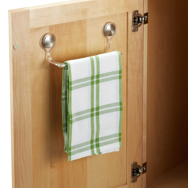 kitchen towel bars stonewall free shipping interdesign forma adhesive bar the container store