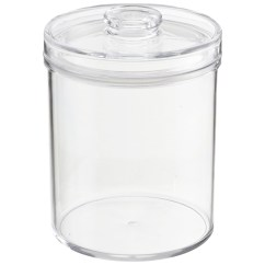 Clear Kitchen Canisters Replacing Cabinets Acrylic - Round | The ...