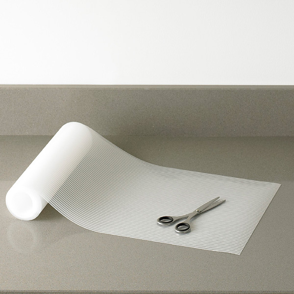 kitchen shelf liners high top table drawer liner clear plast o mat ribbed the container store