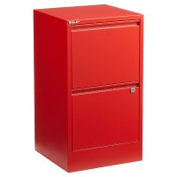 Bisley Red 2- & 3-Drawer Locking Filing Cabinets | The ...