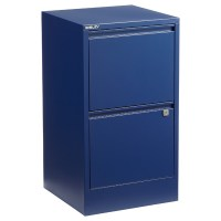 Bisley Oxford Blue 2- & 3-Drawer Locking Filing Cabinets ...