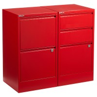 Red Bisley 2- & 3-Drawer File Cabinets | The Container Store