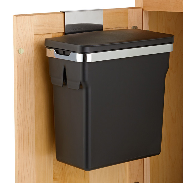 simplehuman kitchen trash can decorative canisters black in cabinet 2 6 gal the container store