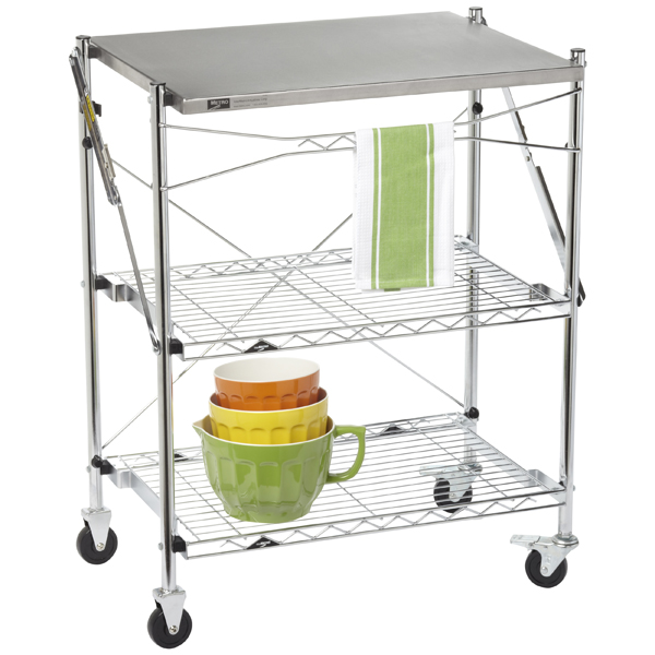 folding kitchen cart outdoor grills intermetro chef s