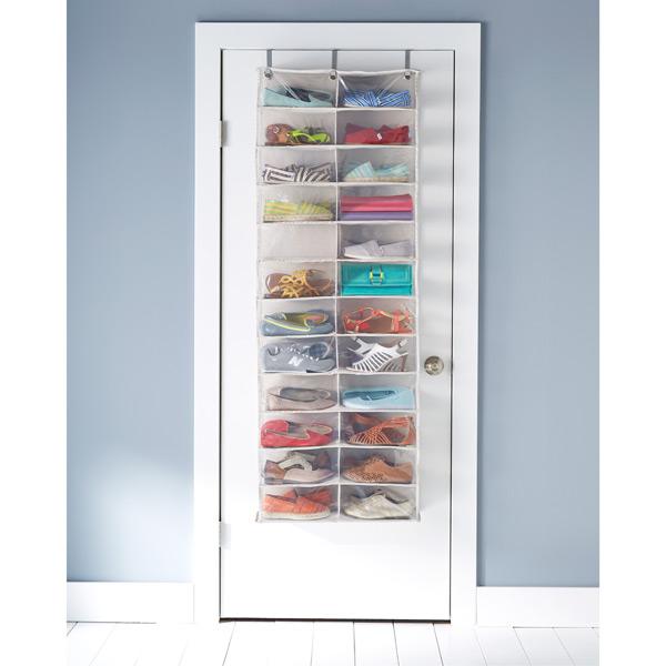 24 pocket over the door shoe organizer