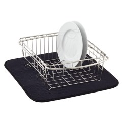 Kitchen Dish Drying Mat Stone Sinks Black The Container Store