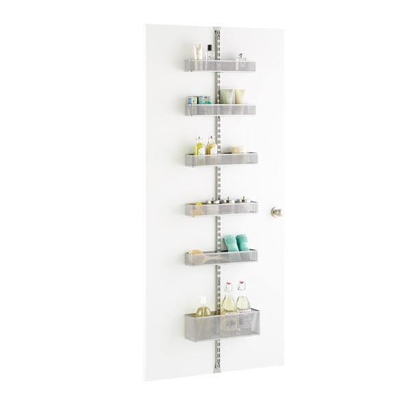 platinum elfa utility bathroom over the door rack solution
