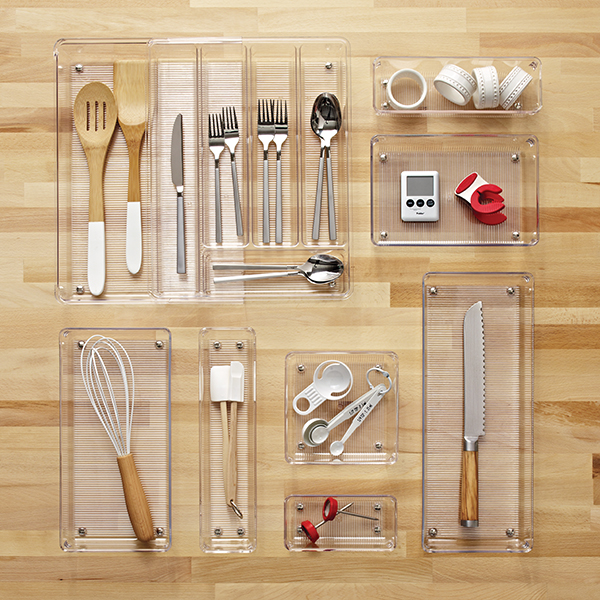 kitchen organizer ss equipments interdesign linus expandable cutlery the container store