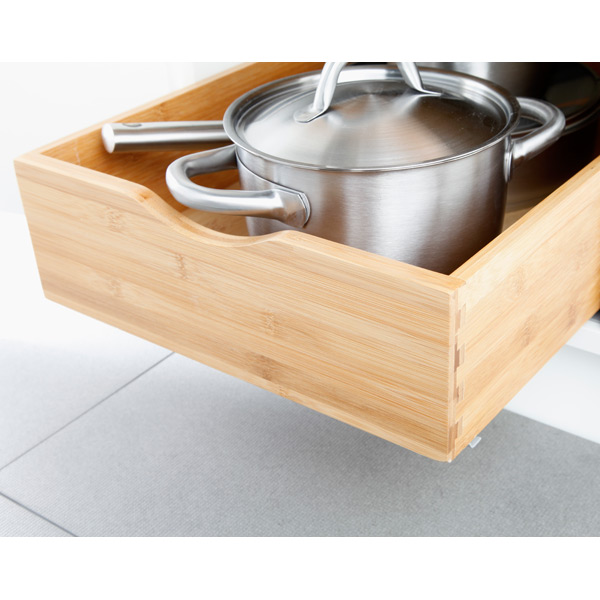 Cabinet Drawers Bamboo Pull Out Cabinet Drawers The Container Store