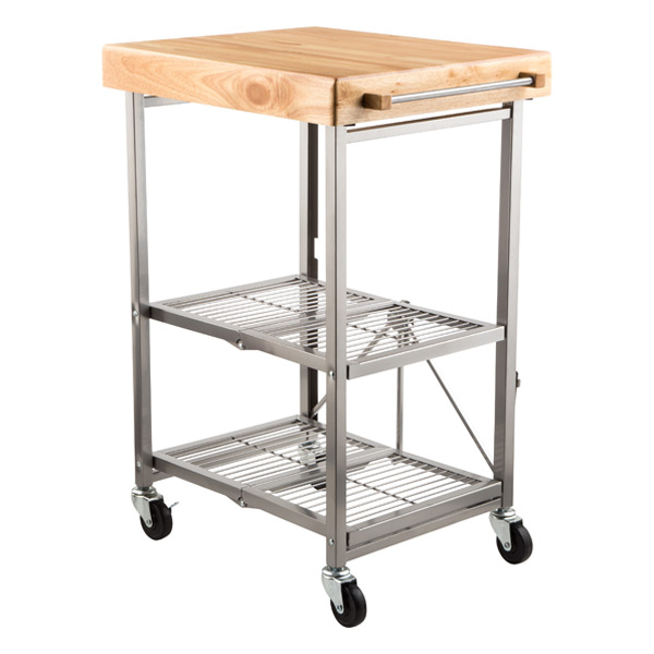 stainless kitchen cart orange decor origami the container store